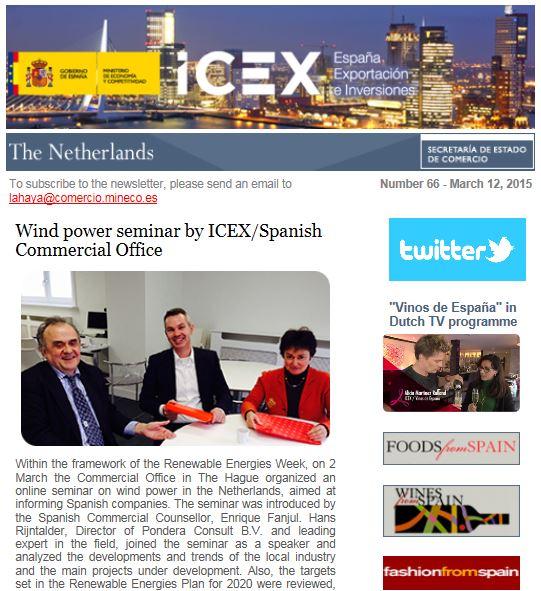 Windenergie seminar voor Spaanse bedrijven