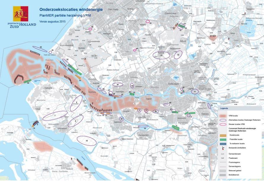 Pondera Consult ondersteunt provincie Zuid-Holland bij milieuonderzoek voor wind voor herziening VRM
