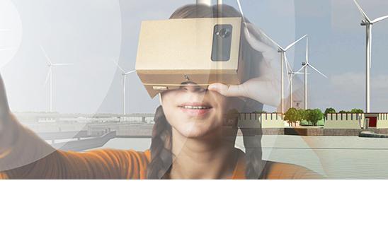 Veel belangstelling voor 3d-visualisaties en cardboardbrillen