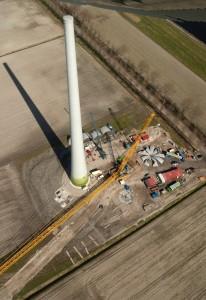 turbine in aanbouw