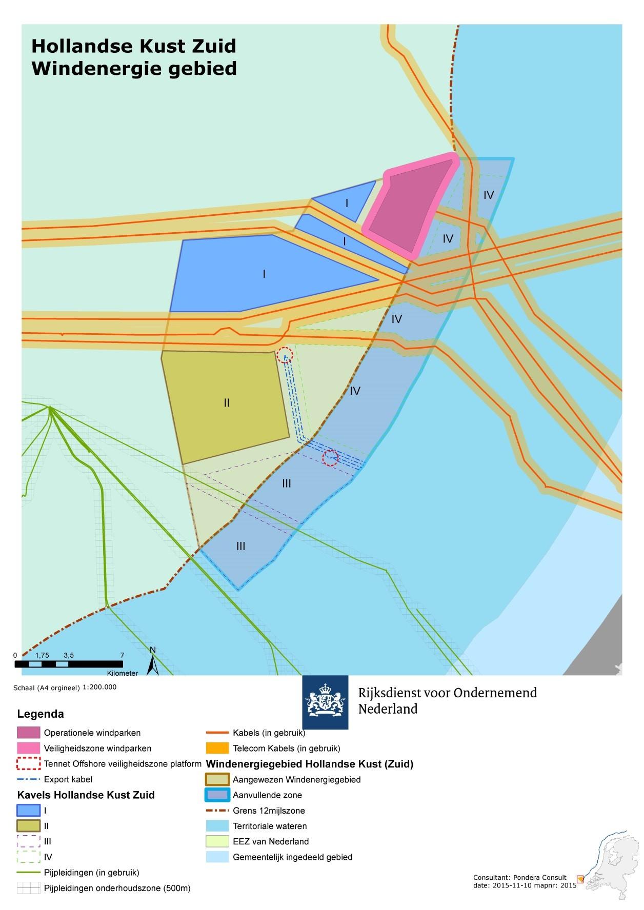 Voorgestelde verkaveling windenergiegebied Hollandse Kust (zuid)