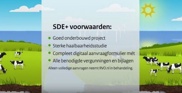 SDE+ voorjaarsronde 2018 komt eraan