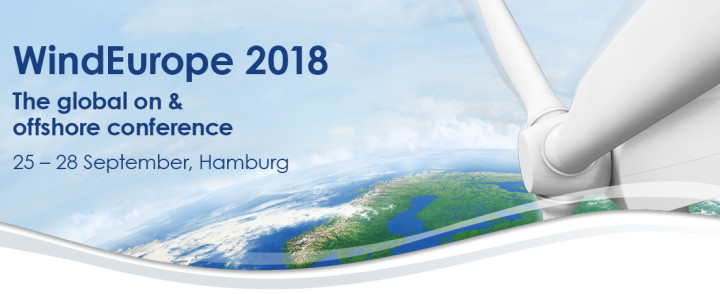Bezoek ons op WINDEUROPE 2018 in Hamburg 25-28 september 2018