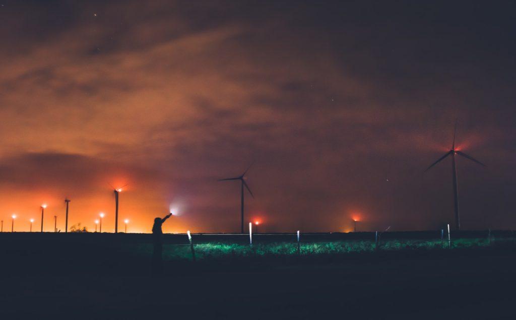 Lichten op windturbines