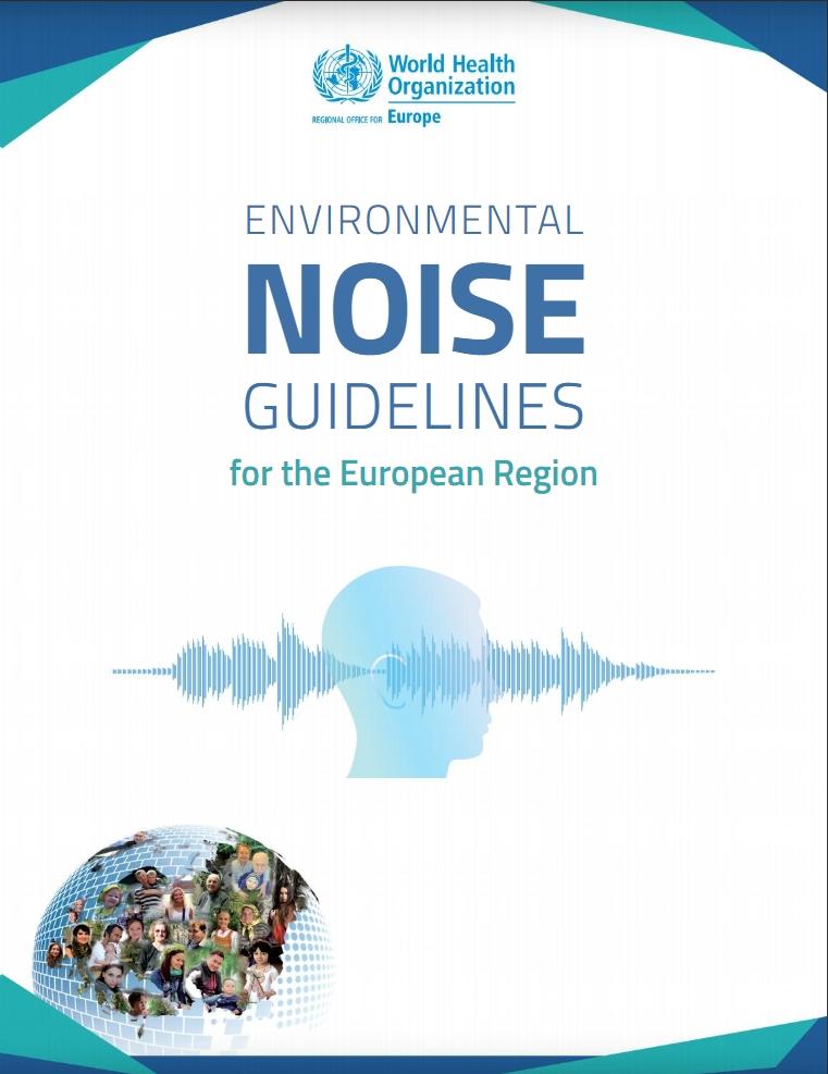 De voorpagina van het rapport van de WHO over lawaai.
