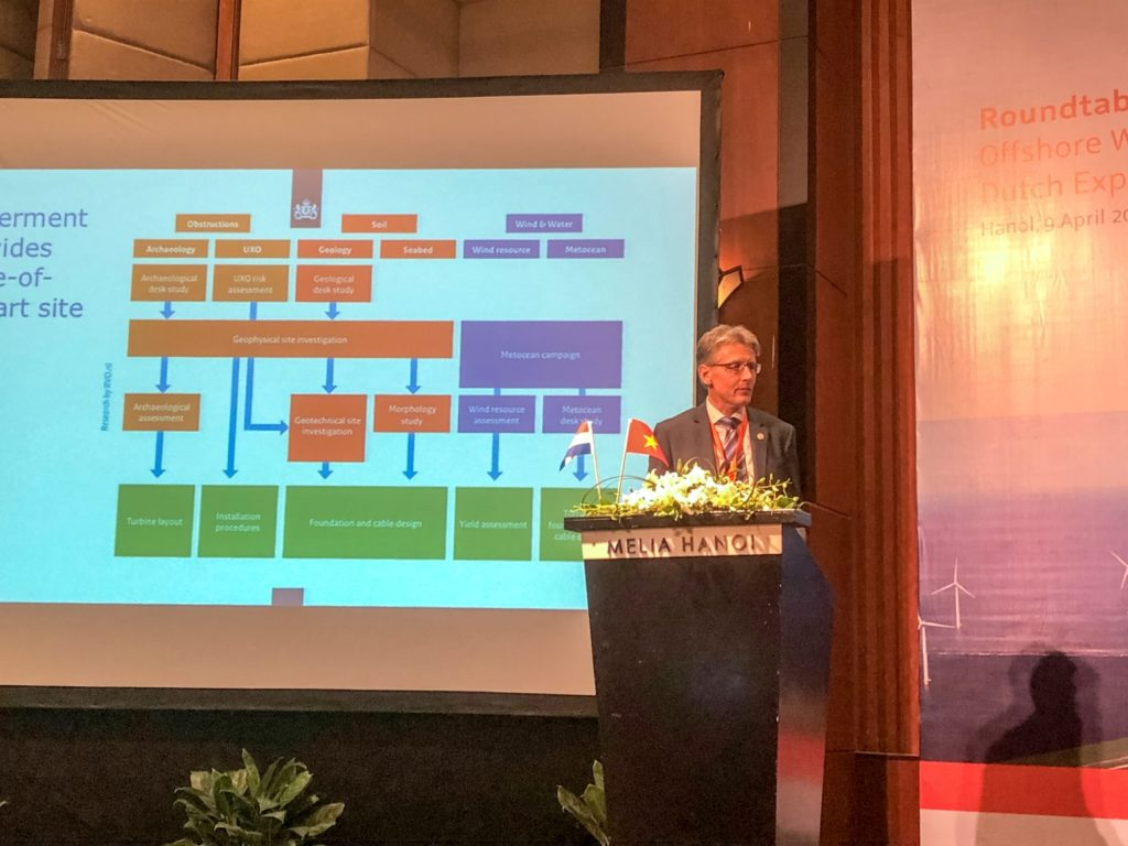 Eric Arends during the trade mission in Vietnam