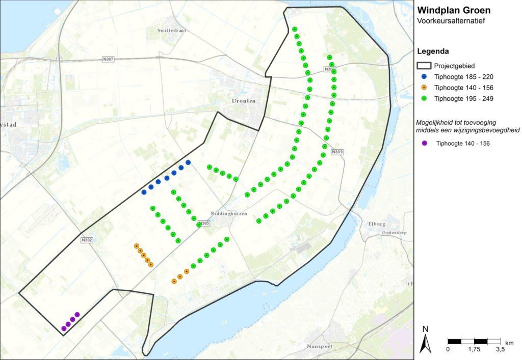 Kaart VKA Windplan Groen